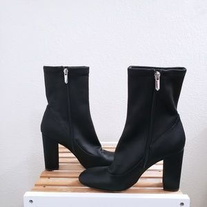 Satin Sock Black Sam Edelman Booties NWOB